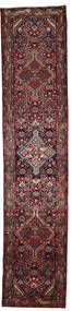 Hosseinabad Matta 81X388 Äkta Orientalisk Handknuten Hallmatta Mörkröd/Mörkbrun (Ull, Persien/Iran)