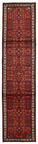 Hosseinabad Matta 80X330 Äkta Orientalisk Handknuten Hallmatta Mörkröd/Mörkbrun (Ull, Persien/Iran)