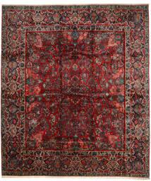 Sarough Matta 420X485 Äkta Orientalisk Handknuten Mörkröd/Mörkbrun Stor (Ull, Persien/Iran)