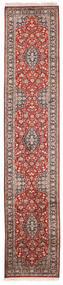 Kashmir Äkta Silke Matta 65X315 Äkta Orientalisk Handknuten Hallmatta Vit/Cremefärgad/Mörkröd (Silke, Indien)