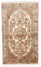 Kashmir Äkta Silke Matta 93X155 Äkta Orientalisk Handknuten Beige/Brun/Ljusrosa (Silke, Indien)