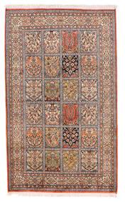 Kashmir Äkta Silke Matta 93X155 Äkta Orientalisk Handknuten Beige/Mörkröd (Silke, Indien)