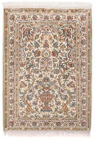 Kashmir Äkta Silke Matta 65X89 Äkta Orientalisk Handknuten Ljusgrå/Vit/Cremefärgad (Silke, Indien)
