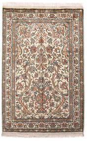 Kashmir Äkta Silke Matta 64X96 Äkta Orientalisk Handknuten Ljusgrå/Beige (Silke, Indien)