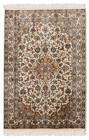 Kashmir Äkta Silke Matta 64X93 Äkta Orientalisk Handknuten Beige/Brun (Silke, Indien)