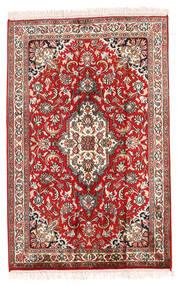 Kashmir Äkta Silke Matta 63X97 Äkta Orientalisk Handknuten Beige/Roströd (Silke, Indien)