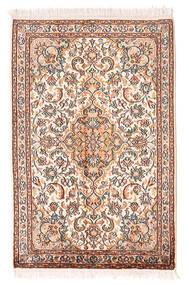 Kashmir Äkta Silke Matta 64X100 Äkta Orientalisk Handknuten Ljusrosa/Ljusbrun (Silke, Indien)