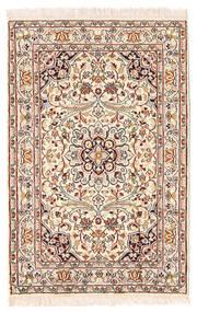Kashmir Äkta Silke Matta 63X95 Äkta Orientalisk Handknuten Ljusrosa/Mörkbrun (Silke, Indien)