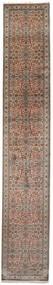 Kashmir Äkta Silke Matta 79X462 Äkta Orientalisk Handknuten Hallmatta Mörkbrun/Brun (Silke, Indien)
