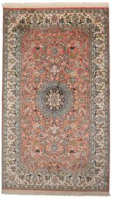Kashmir Äkta Silke Matta 93X156 Äkta Orientalisk Handknuten Mörkgrå/Mörkröd (Silke, Indien)