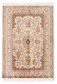 Kashmir Äkta Silke Matta 66X94 Äkta Orientalisk Handknuten Beige/Ljusrosa (Silke, Indien)