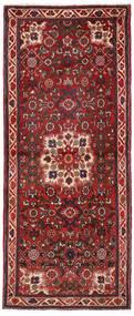 Hosseinabad Matta 72X185 Äkta Orientalisk Handknuten Hallmatta Mörkröd/Mörkbrun (Ull, Persien/Iran)