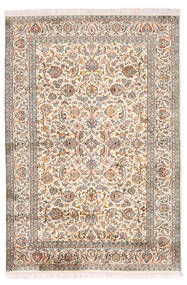 Kashmir Äkta Silke Matta 126X184 Äkta Orientalisk Handknuten Ljusgrå/Beige (Silke, Indien)