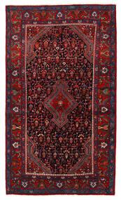 Nahavand Matta 123X210 Äkta Orientalisk Handknuten Mörkröd/Mörkbrun (Ull, Persien/Iran)