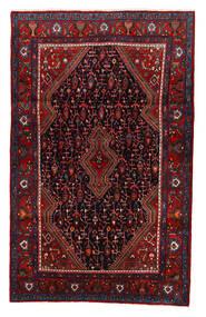 Nahavand Matta 127X204 Äkta Orientalisk Handknuten Mörkröd/Mörkbrun (Ull, Persien/Iran)