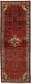 Hosseinabad Matta 74X207 Äkta Orientalisk Handknuten Hallmatta Mörkröd/Mörkbrun (Ull, Persien/Iran)