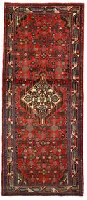 Hamadan Matta 82X197 Äkta Orientalisk Handknuten Hallmatta Mörkröd/Mörkbrun (Ull, Persien/Iran)