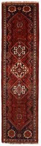 Shiraz Matta 81X322 Äkta Orientalisk Handknuten Hallmatta Mörkröd/Röd (Ull, Persien/Iran)