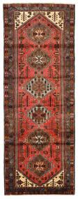 Hamadan Matta 102X275 Äkta Orientalisk Handknuten Hallmatta Mörkröd/Röd (Ull, Persien/Iran)