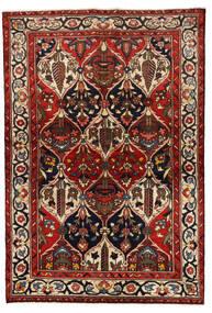Bakhtiar Matta 139X205 Äkta Orientalisk Handknuten Mörkröd/Svart (Ull, Persien/Iran)