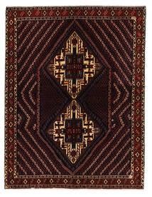 Afshar/Sirjan Matta 152X198 Äkta Orientalisk Handknuten Mörkröd (Ull, Persien/Iran)