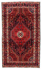 Hamadan Matta 115X199 Äkta Orientalisk Handknuten Mörkröd/Mörkbrun (Ull, Persien/Iran)
