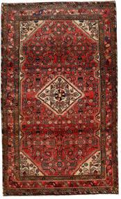 Mehraban Matta 117X210 Äkta Orientalisk Handknuten Mörkröd/Mörkbrun (Ull, Persien/Iran)