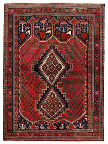 Afshar/Sirjan Matta 153X210 Äkta Orientalisk Handknuten Mörkröd/Mörkbrun (Ull, Persien/Iran)