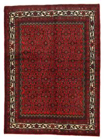 Hosseinabad Matta 155X210 Äkta Orientalisk Handknuten Mörkröd/Mörkbrun (Ull, Persien/Iran)