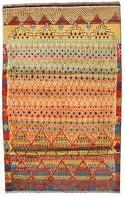 Moroccan Berber - Afghanistan Matta 119X177 Äkta Modern Handknuten Röd/Mörkbeige (Ull, Afghanistan)