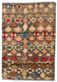 Moroccan Berber - Afghanistan Matta 116X167 Äkta Modern Handknuten Mörkröd/Mörkbeige (Ull, Afghanistan)