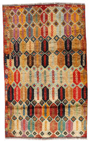 Moroccan Berber - Afghanistan Matta 112X184 Äkta Modern Handknuten Mörkbrun/Röd (Ull, Afghanistan)
