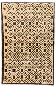 Moroccan Berber - Afghanistan Matta 110X173 Äkta Modern Handknuten Beige/Mörkbrun/Mörkbeige (Ull, Afghanistan)