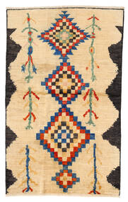 Moroccan Berber - Afghanistan Matta 115X183 Äkta Modern Handknuten Beige/Gul/Ljusbrun (Ull, Afghanistan)