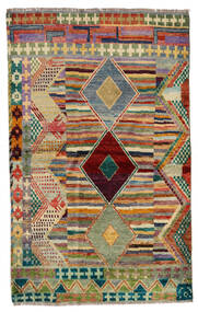 Moroccan Berber - Afghanistan Matta 125X202 Äkta Modern Handknuten Ljusbrun/Ljusgrå (Ull, Afghanistan)