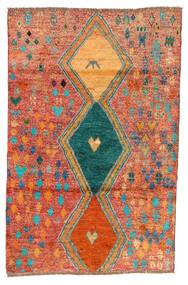 Moroccan Berber - Afghanistan Matta 114X175 Äkta Modern Handknuten Röd/Orange (Ull, Afghanistan)