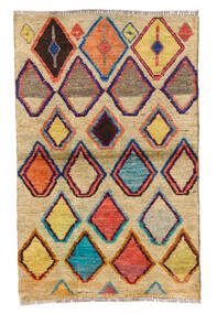 Moroccan Berber - Afghanistan Matta 85X133 Äkta Modern Handknuten Mörkbeige/Mörklila (Ull, Afghanistan)