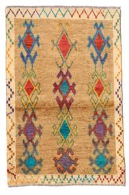 Moroccan Berber - Afghanistan Matta 81X125 Äkta Modern Handknuten Ljusbrun/Mörkbeige (Ull, Afghanistan)