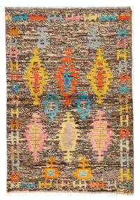 Moroccan Berber - Afghanistan Matta 81X117 Äkta Modern Handknuten Brun/Ljusbrun (Ull, Afghanistan)