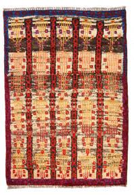 Moroccan Berber - Afghanistan Matta 80X116 Äkta Modern Handknuten Mörkbrun/Mörkröd (Ull, Afghanistan)