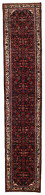 Hosseinabad Matta 72X388 Äkta Orientalisk Handknuten Hallmatta Mörkröd (Ull, Persien/Iran)