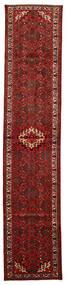 Hosseinabad Matta 83X400 Äkta Orientalisk Handknuten Hallmatta Mörkröd/Mörkbrun (Ull, Persien/Iran)