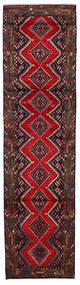 Hamadan Matta 74X280 Äkta Orientalisk Handknuten Hallmatta Mörkröd (Ull, Persien/Iran)