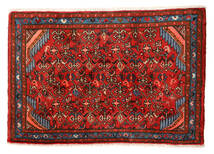 Hamadan Matta 55X81 Äkta Orientalisk Handknuten Roströd/Mörkbrun (Ull, Persien/Iran)
