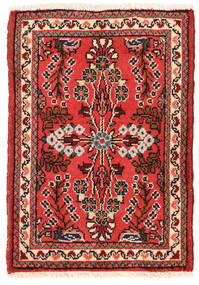 Lillian Matta 48X68 Äkta Orientalisk Handknuten Mörkröd/Mörkbrun (Ull, Persien/Iran)