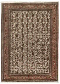 Tabriz 50 Raj Matta 167X230 Äkta Orientalisk Handknuten Mörkbrun/Brun (Ull/Silke, Persien/Iran)