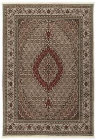 Tabriz 40 Raj Matta 170X242 Äkta Orientalisk Handknuten Mörkbrun/Brun/Ljusgrå (Ull/Silke, Persien/Iran)