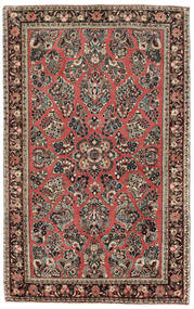 Sarough American Matta 122X198 Äkta Orientalisk Handknuten Ljusgrå/Brun (Ull, Indien)