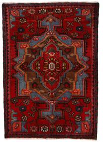 Nahavand Matta 68X100 Äkta Orientalisk Handknuten Mörkröd/Mörkbrun (Ull, Persien/Iran)