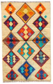 Moroccan Berber - Afghanistan Matta 85X139 Äkta Modern Handknuten Ljusbrun/Mörkbeige (Ull, Afghanistan)